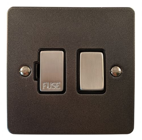 G&H FP357 Flat Plate Pewter 1 Gang Fused Spur 13A Switched